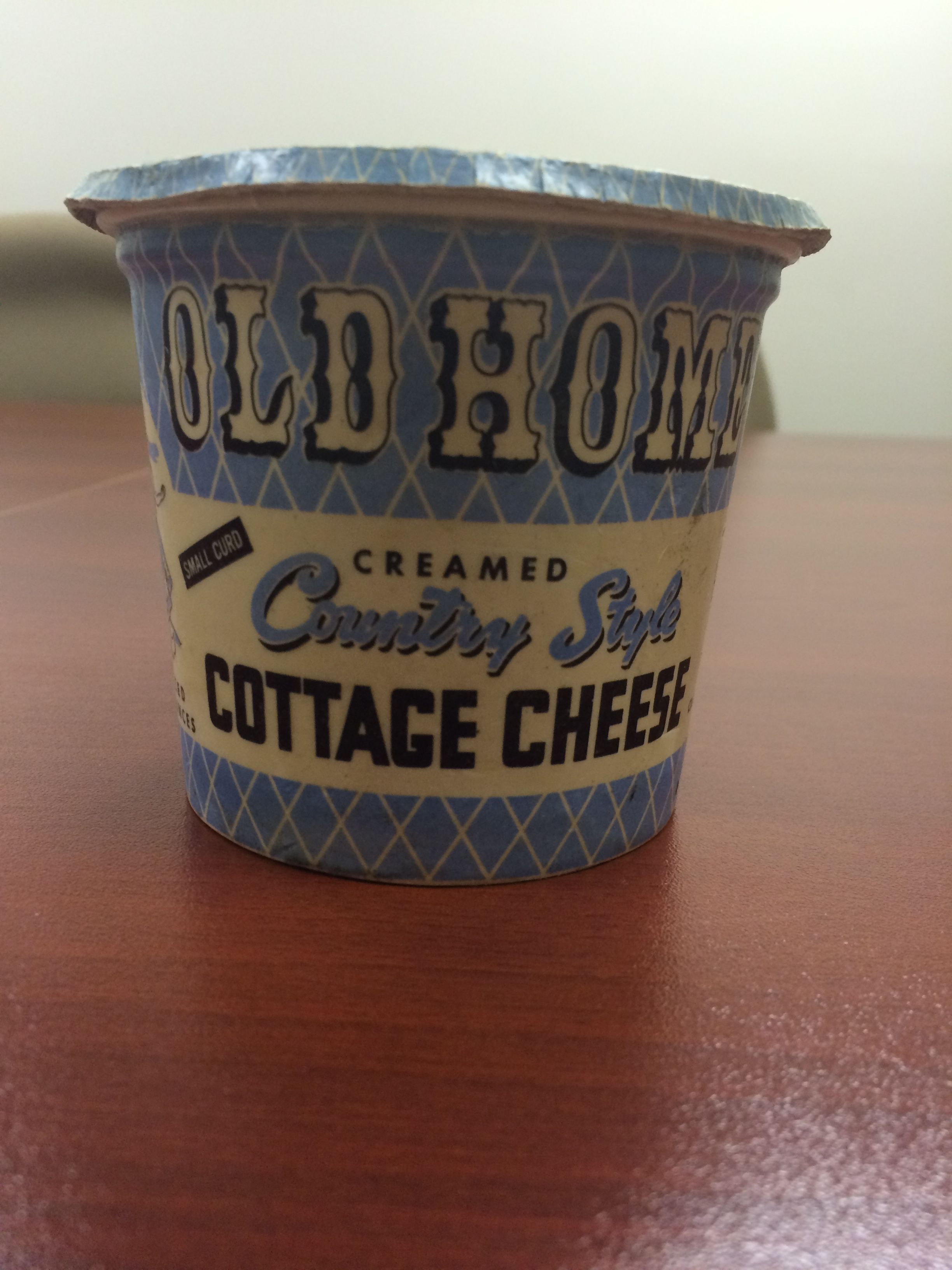 Superb Check Out This Vintage Old Home Cottage Cheese Container Made From Wax.  This One Dates