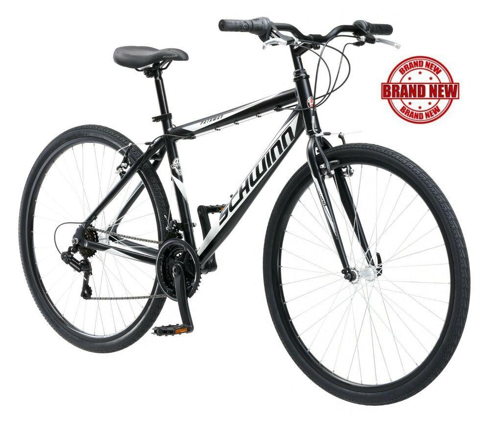 Schwinn Hybrid Bike 700c Men S Black Cruiser Alloy Frame Sport Road Bicycle New Comfort Bike Bicycle Schwinn