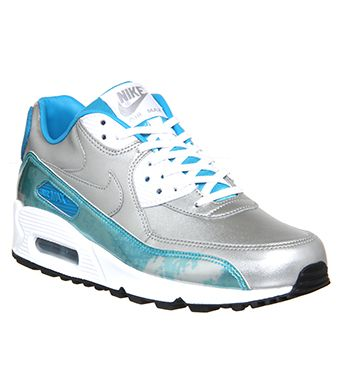 Nike Air Max 90 (w) Chrome To Colour White Clearwater Blue Qs - Hers