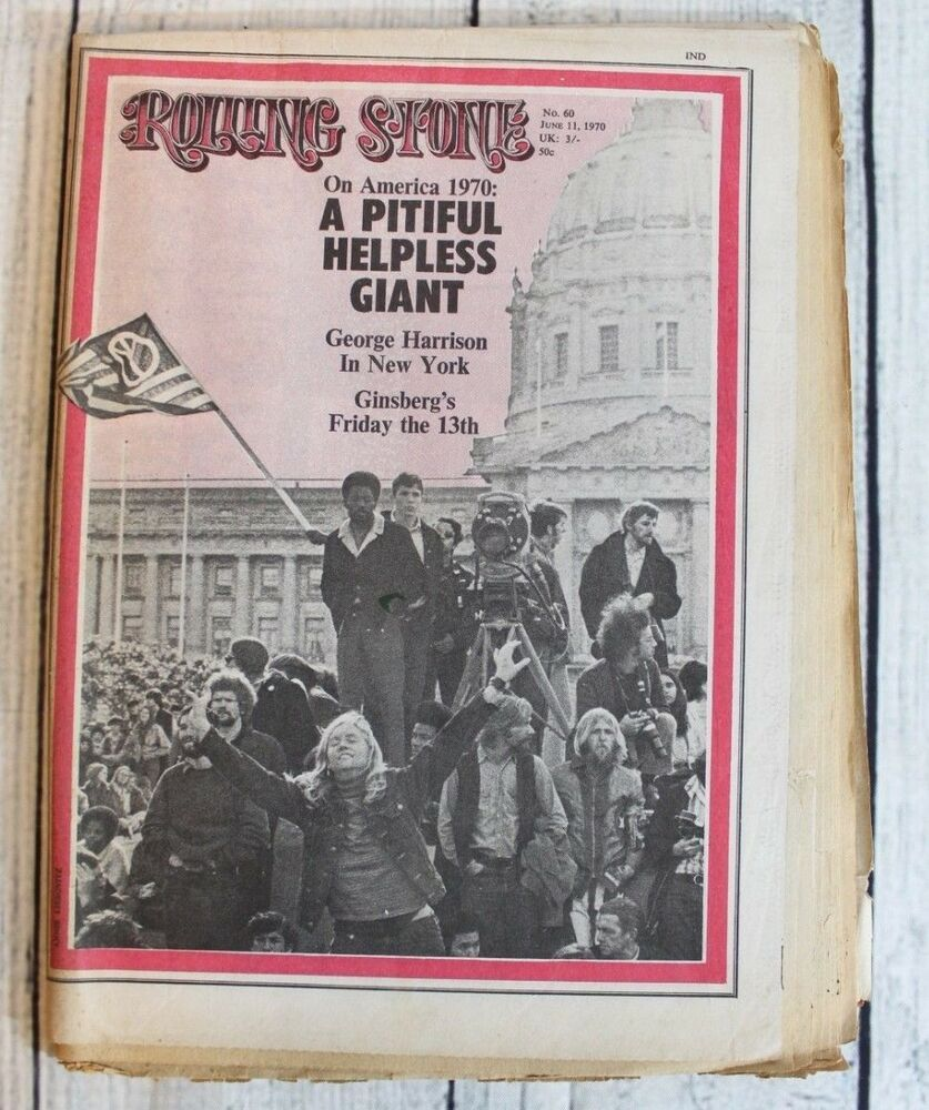 Rolling Stone Magazine Vintage June 1970 Issue No. 60