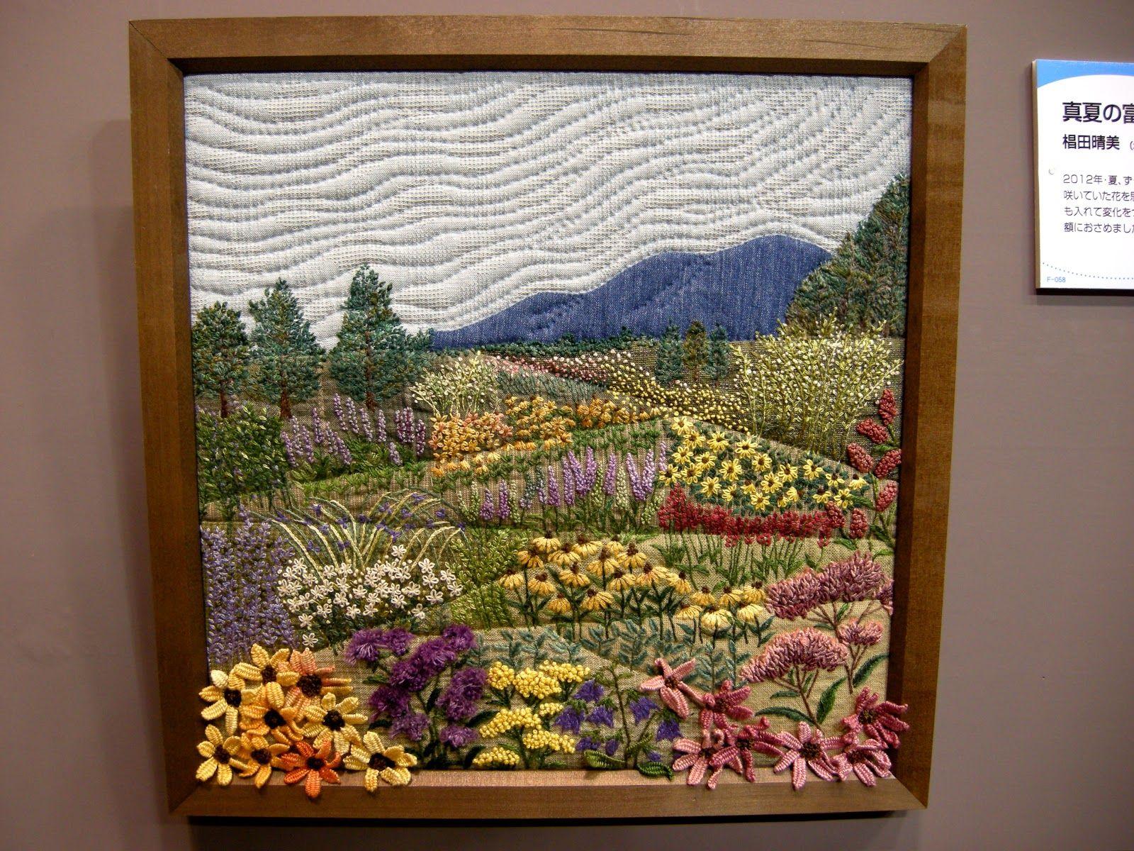 DSCN5175.JPG (1600×1200) | Haft | Pinterest | Landscape quilts ... : framed quilt art - Adamdwight.com