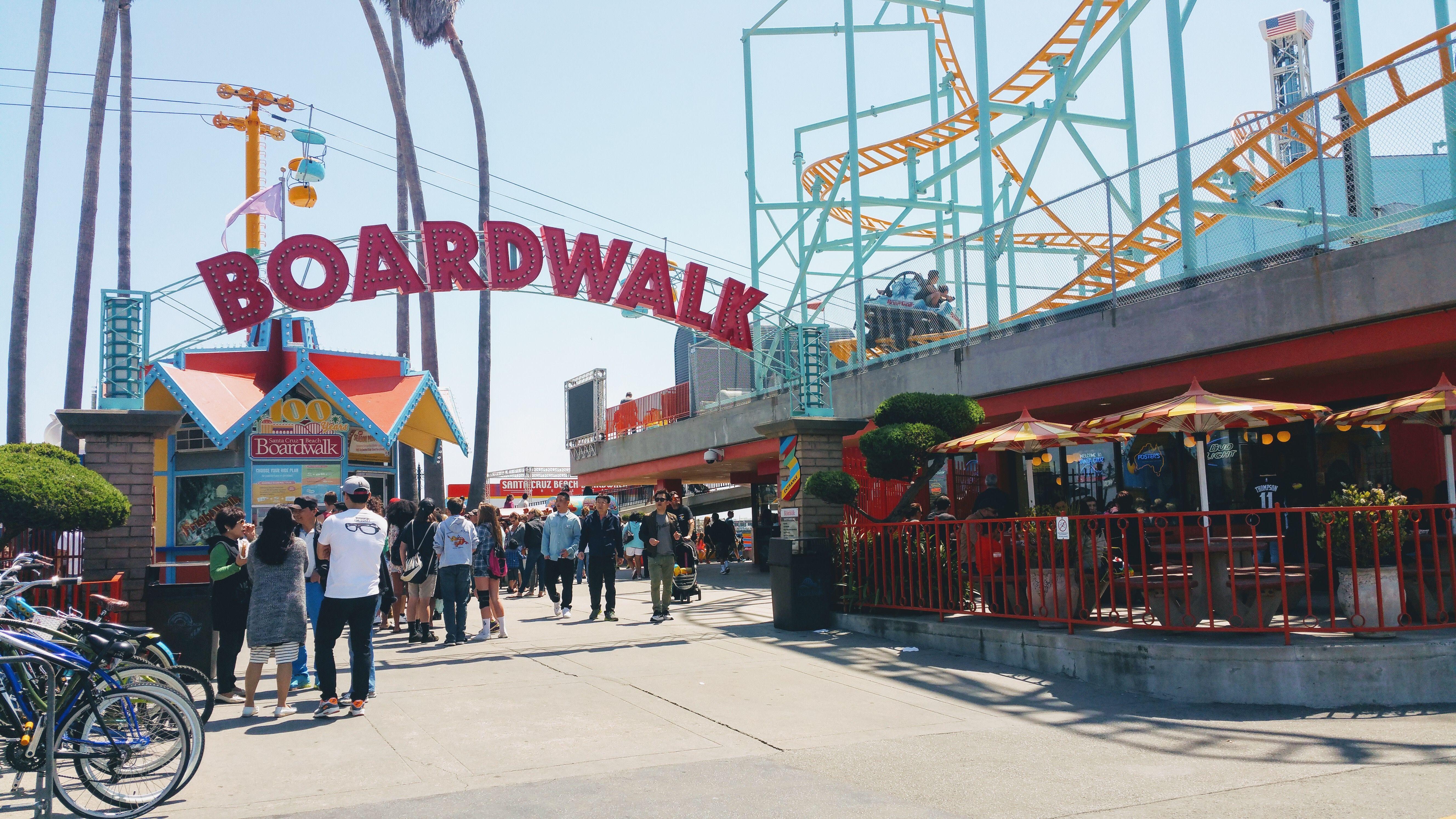Santa Cruz California Beach Boardwalk Rollercoaster