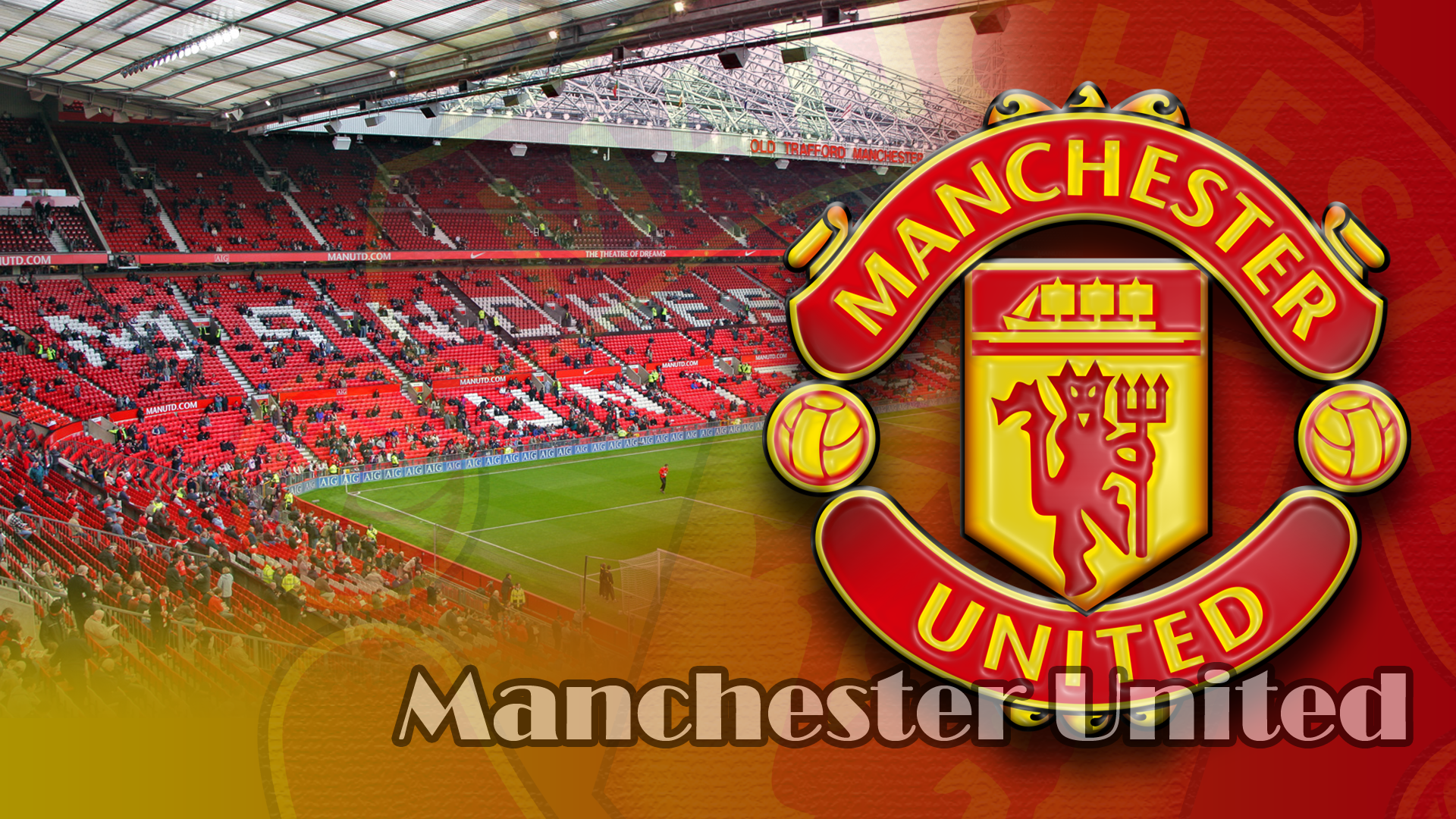 Manchester United Hd Background Old Trafford Manchester United Wayne Rooney
