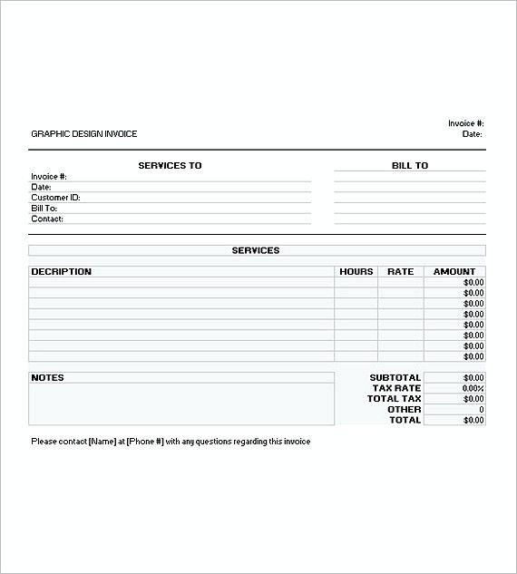 graphic design invoice templates excel , Graphic Design Invoice