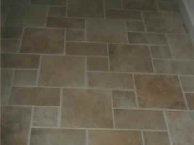 Step Pattern Stone Look Floor Tile Bathroom