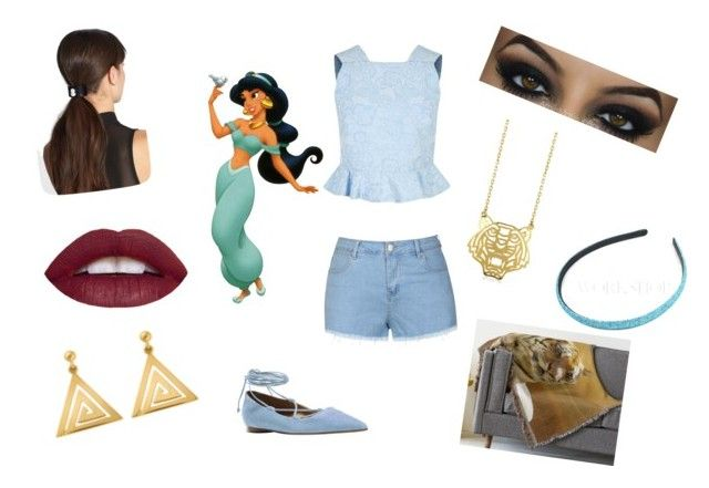 """""""Jasmine Goes Modern"""" by paisleypuppy ❤ liked on Polyvore featuring Ally Fashion, Erdem, ChloBo, Michael Kors, L. Erickson, Disney, Kenzo, modern, women's clothing and women"""