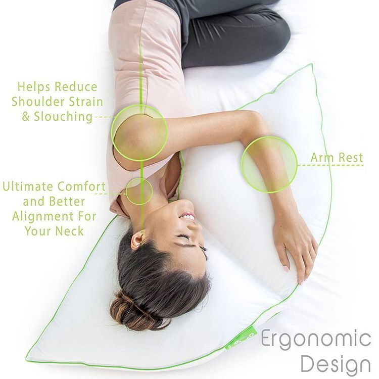 Meet The Side Sleeper Pillow From Our Exclusive Sleep Yoga Collection Ergonomically Specifically Designed For Sleep Yoga Side Sleeper Pillow Side Sleeper