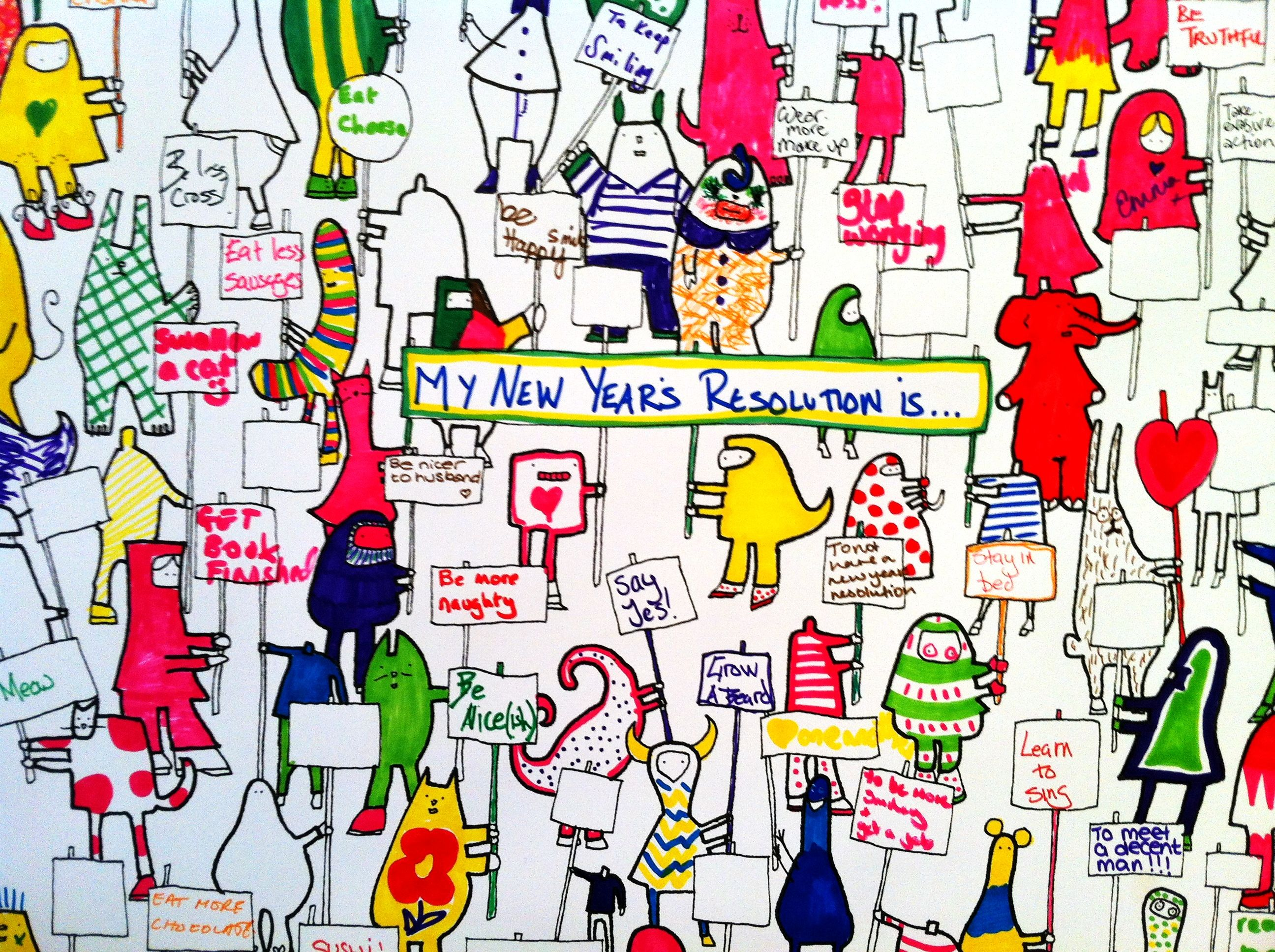 Fill Me In Party Poster New Years Resolutions Great For A New
