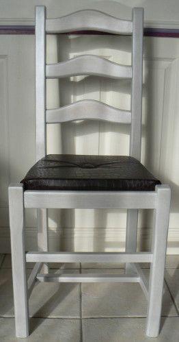 tuto relooking chaise rustique en 2018 chaises bancs. Black Bedroom Furniture Sets. Home Design Ideas
