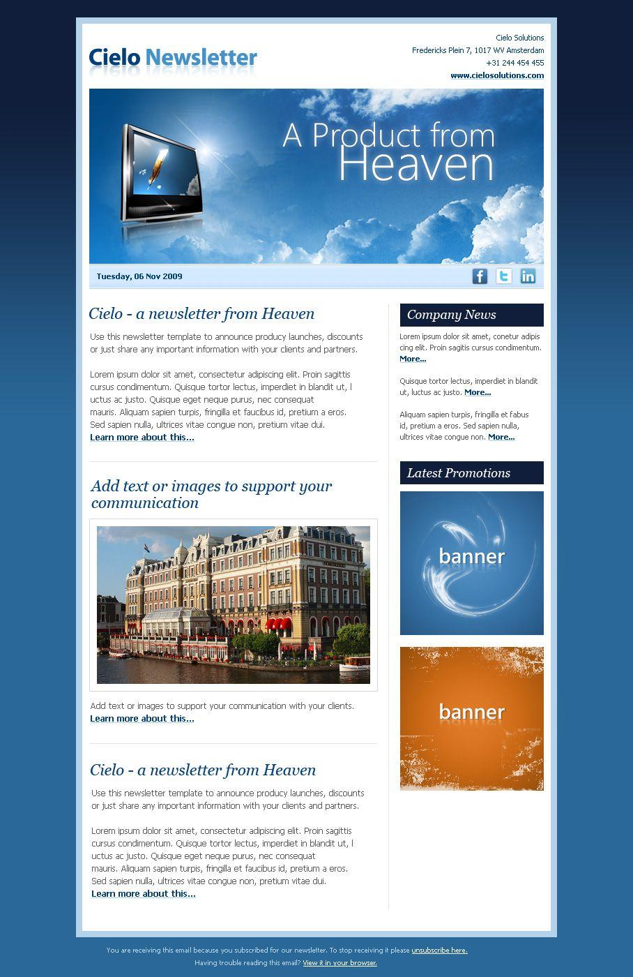 newsletter newsletter design newsletter templates drupal. Black Bedroom Furniture Sets. Home Design Ideas