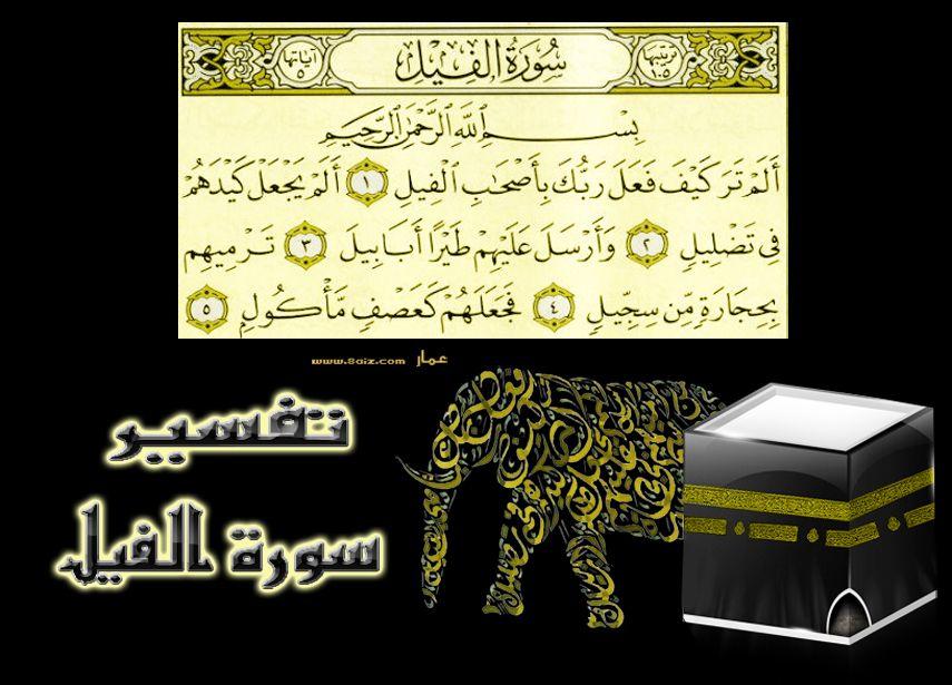 تفسير سورة الفيل Arabic Calligraphy Egypt