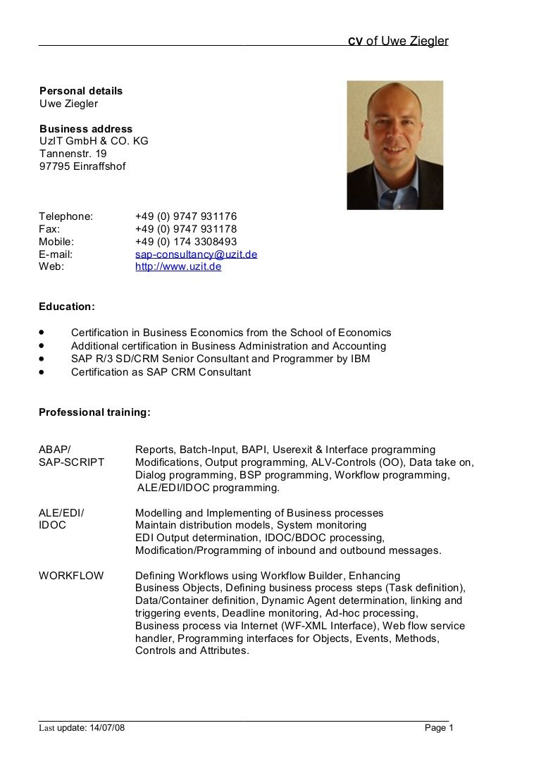 cv     best resume format in doc