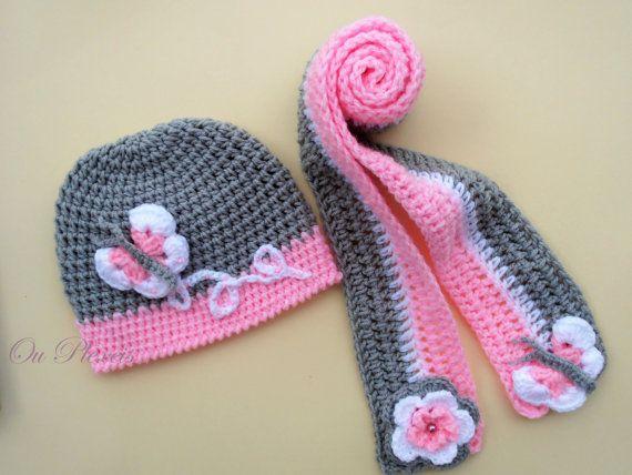 Crochet Set Hat And Scarf Crochet Baby Girl Hat And Scarf Crochet