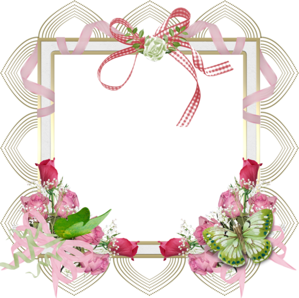 Cadres frame rahmen quadro png clip art e imprimibles for Cadre floral mural
