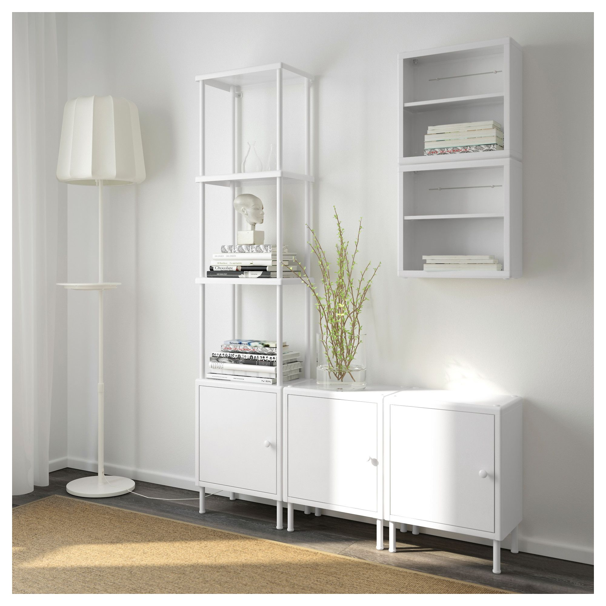 san francisco b3040 08e53 IKEA DYNAN White Shelving unit with 3 cabinets | Products in ...