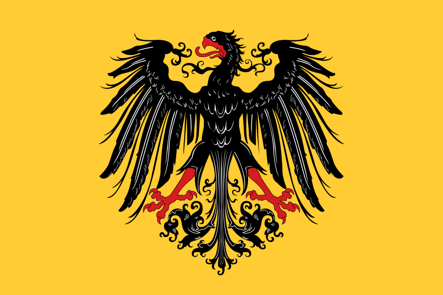 Yellow Holy Roman Empire Flag Art Medieval Banner