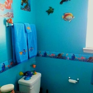 Toilet And Towel Bar Finding Nemo Toddler Bathroom Pinterest - Nemo bathroom set for small bathroom ideas