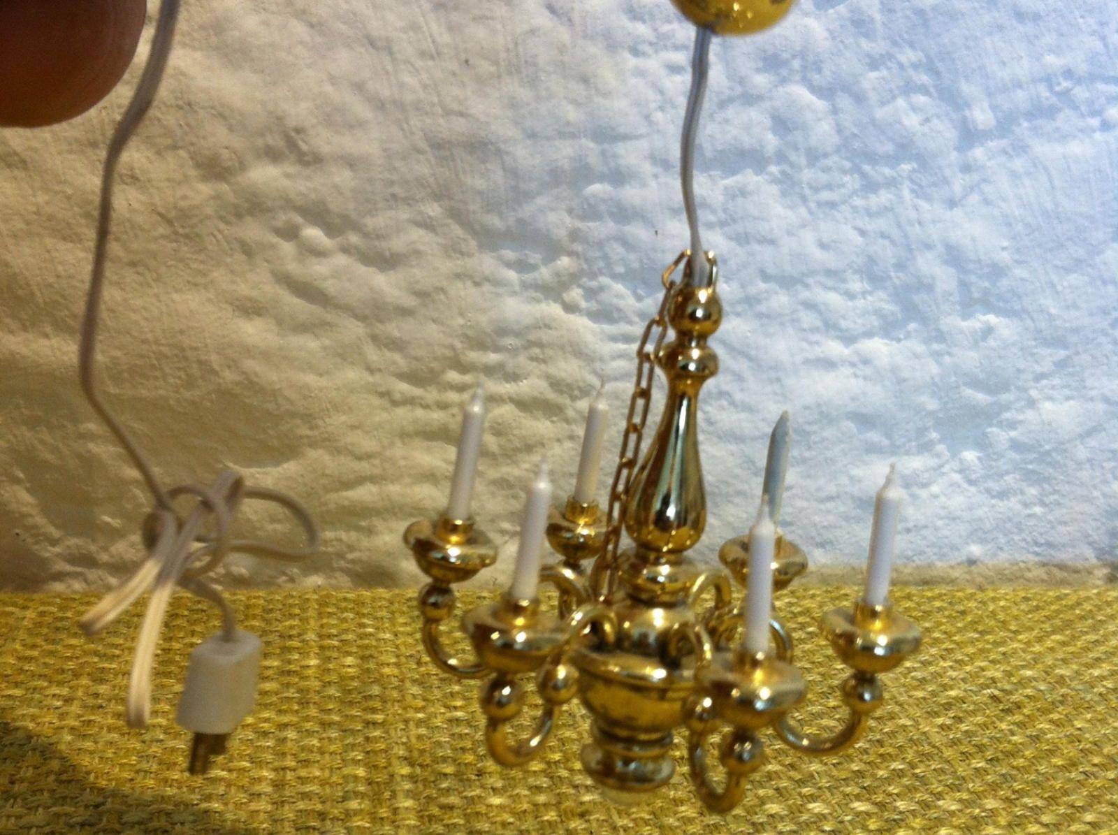 Beautiful Vintage Chandelier Lamp Ceiling Lamp Brass Spielzeug