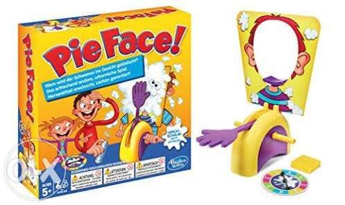 Do you want to get hit in the face with pie?! Of course you do!!!  When you combine the fun of Russian Roulette and pie, everyone is a winner!!!    #pieface #hasbro #boardgame