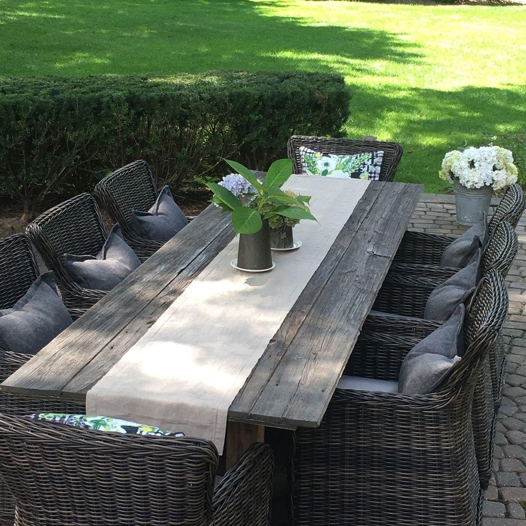 Barn Wood Outdoor Table Runner