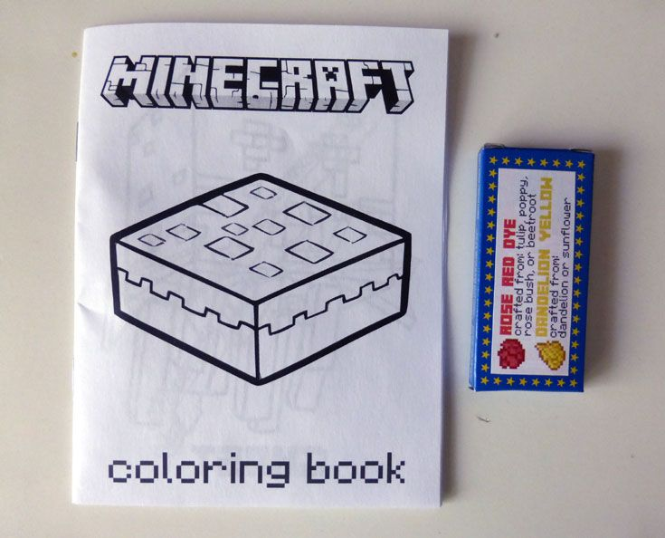 To Make Sure We Had Something Really Following Our Theme We Made Mini-coloring  Books (quarter Page Size).… Minecraft Party Favors, Minecraft Party, Coloring  Books