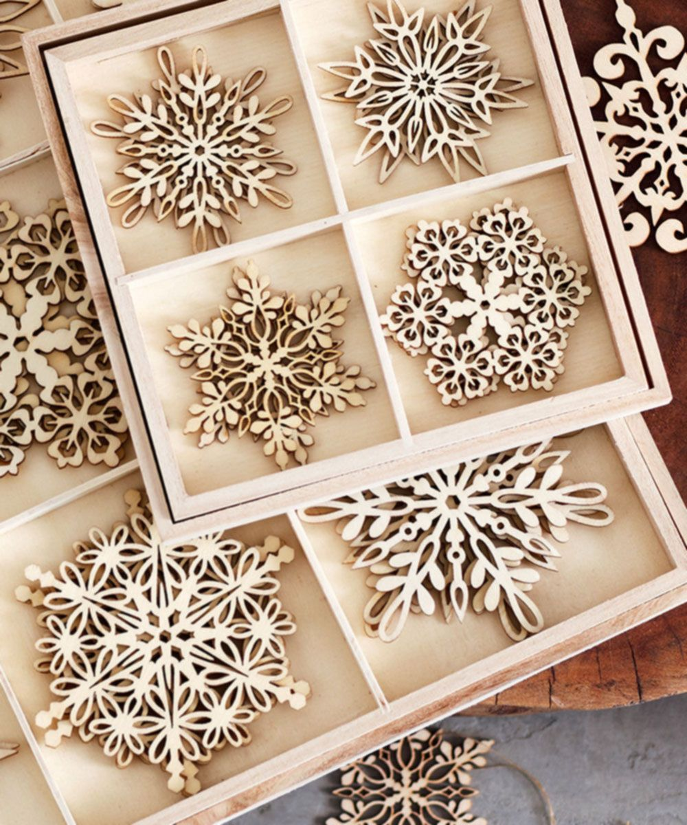 St. Lucia Birch Ornaments - Set of 12