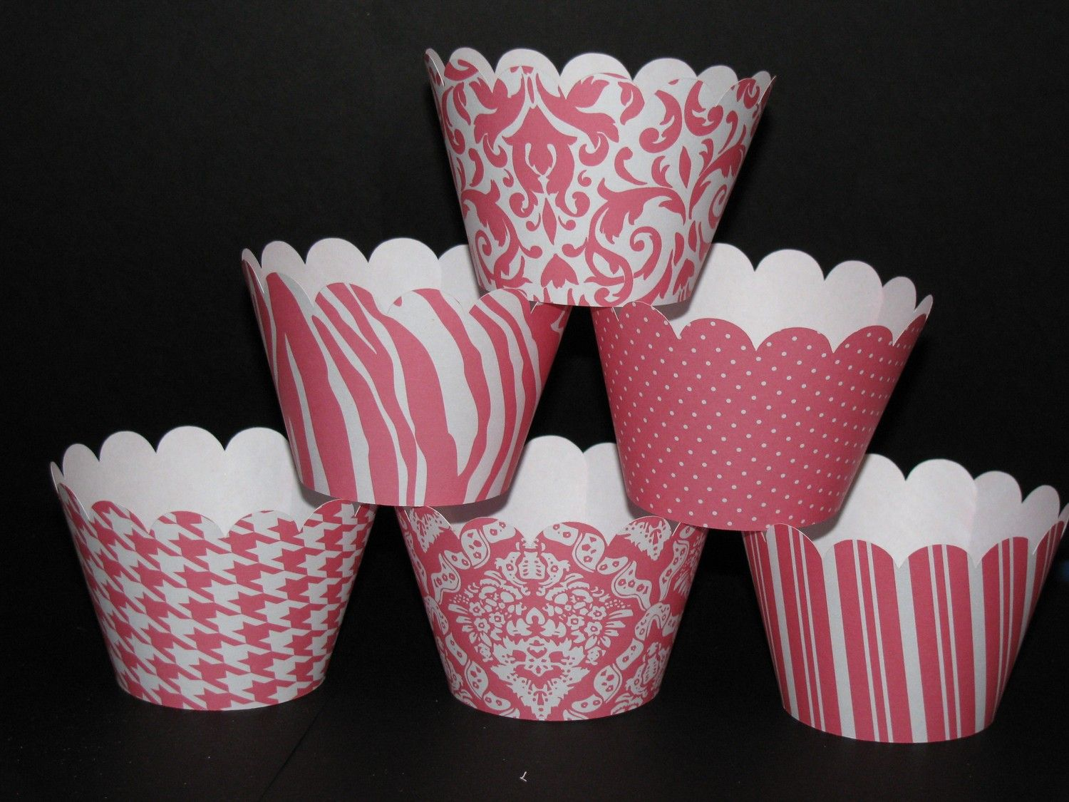 Pink Coral Cupcake Wrappers | Party Ideas | Pinterest | Coral ...