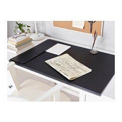 IKEA - RISSLA, Sous-main, Le bord recourbé maintient le sous-main en place.La surface résiste aux taches de café, aux rayures, à la lumière du soleil et aux frottements sans se décolorer.