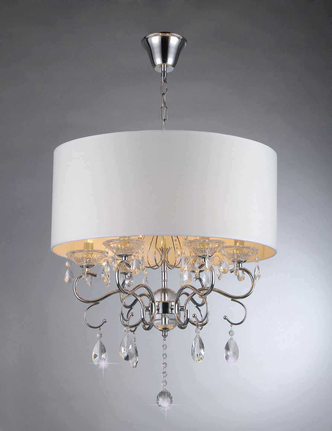 Warehouse Of Tiffany Chandelier Ceiling Lights Silver White