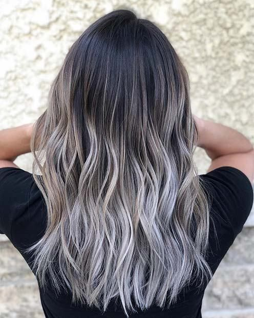 21 Chic Examples Of Black Hair With Blonde Highlights Blondehighlights Blond Black Hair With Highlights Black Hair With Blonde Highlights Black Hair Balayage