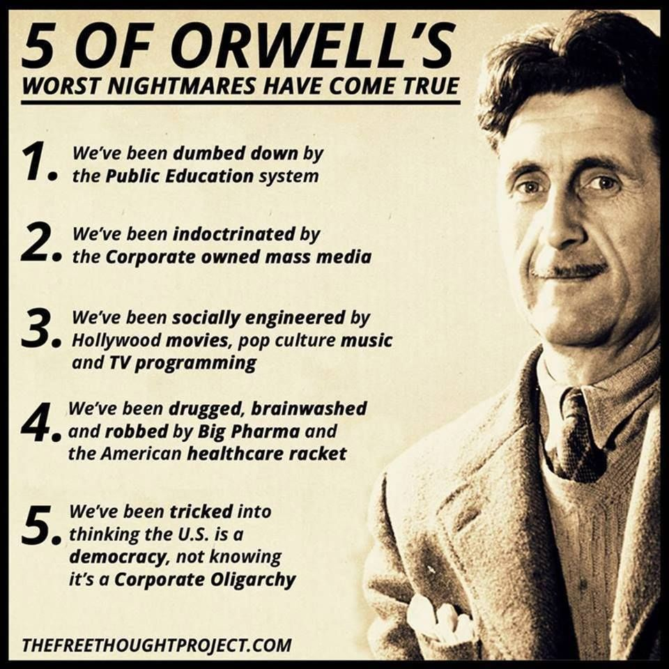 Image result for orwell quotes""