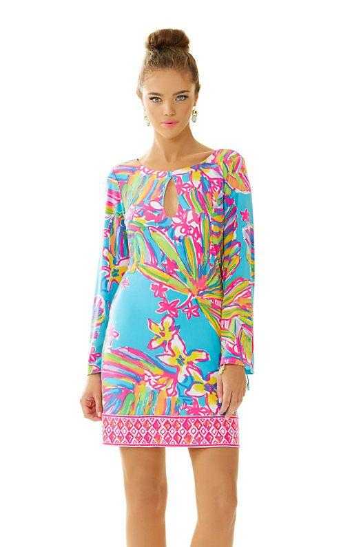 b5d5f3370a8435 Lilly Pulitzer Fairfield Tunic Dress in Sea Blue Summer Haze