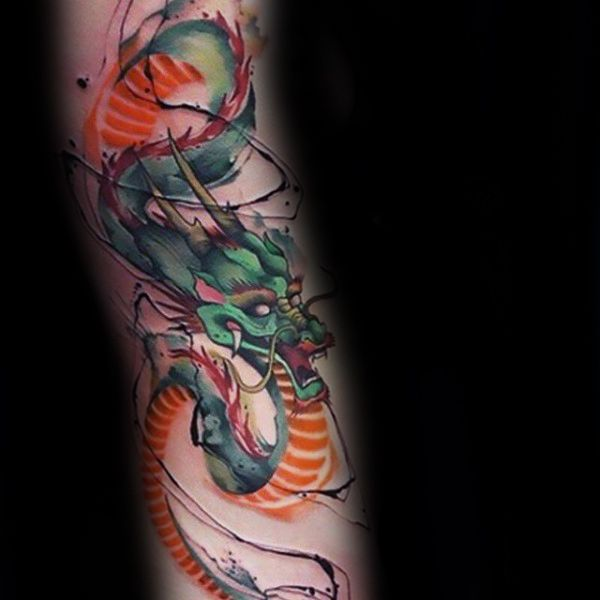 50 Chinese Dragon Tattoo Designs For Men Flaming Ink Ideas