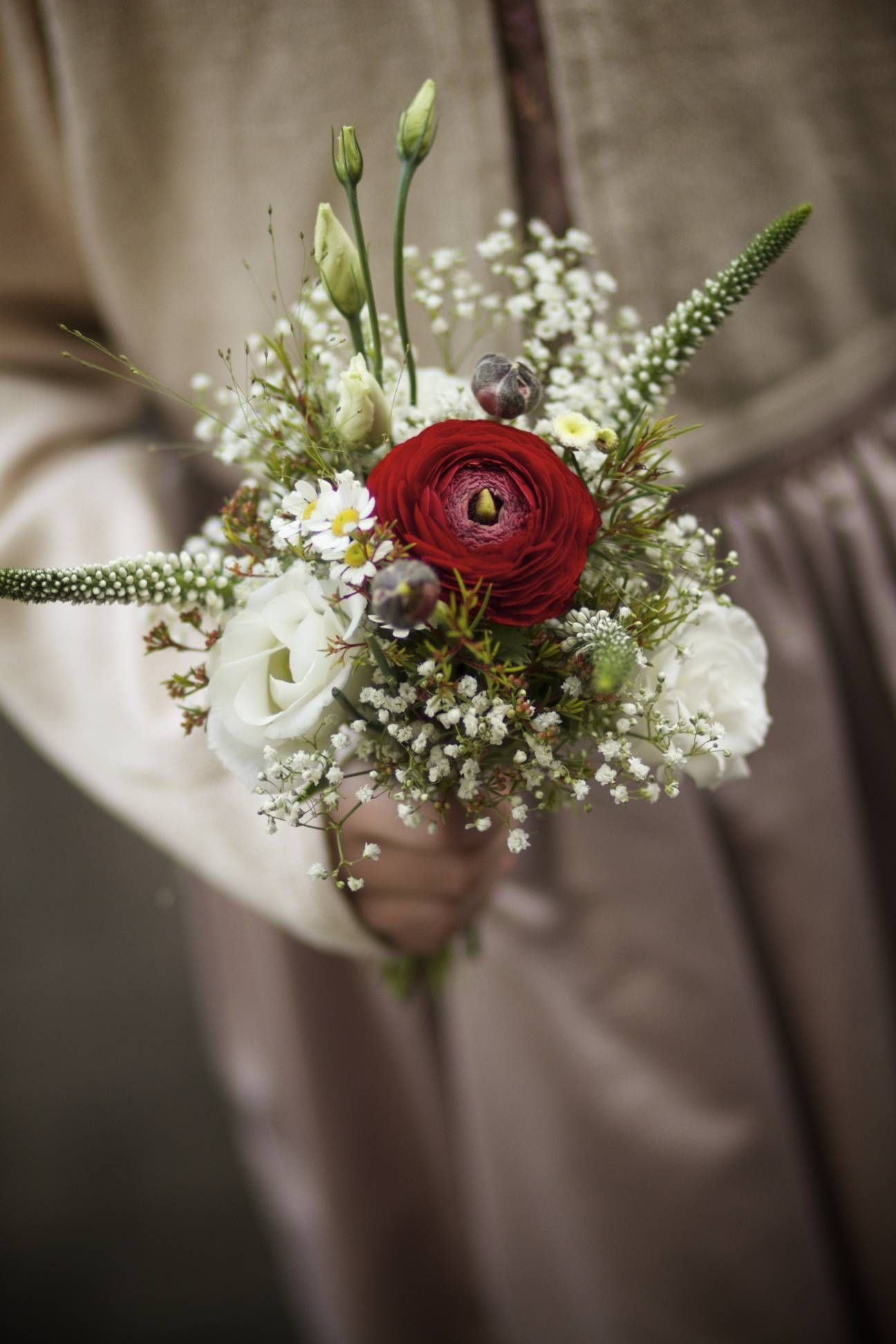 Flower Girl Flowers For A Crisp Misty Atmospheric Wedding Day In