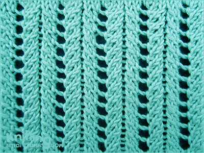 Basic Knitting Stitches Yarn Over : A very simple but elegant lace rib stitch. Knitted in a multiple of 6 sts, an...