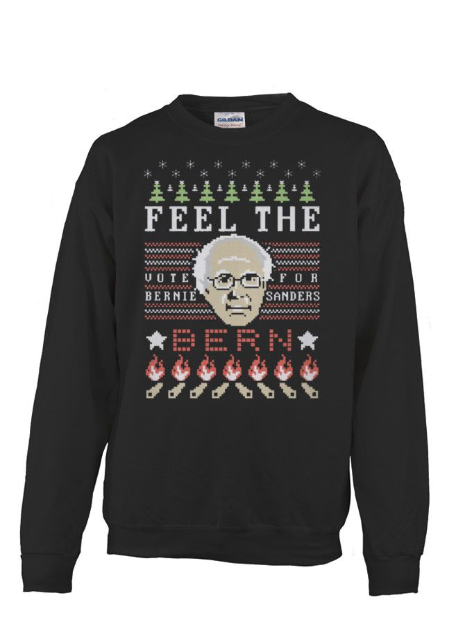 FEEL THE BURN - UGLY CHRISTMAS SWEATER | TeeChip | Christmas ...