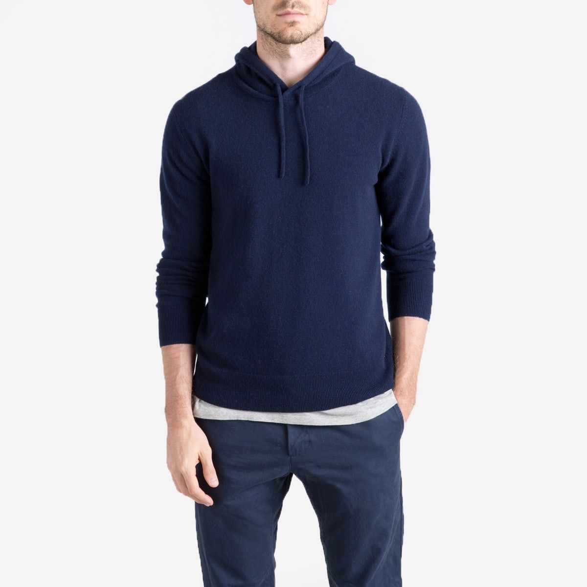 An Elevated Layering Piece In Soft Grade A Cashmere Light Soft And Warm We Source This Luxury Cashmere Directly F Cashmere Hoodie Mens Cashmere Mens Outfits [ 1200 x 1200 Pixel ]