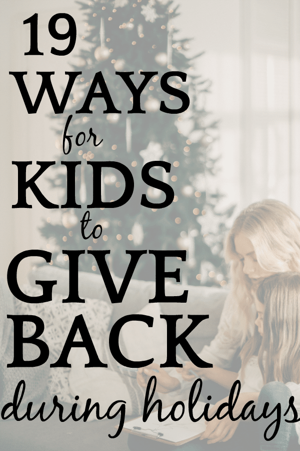 Service Projects For Kids Teenagers In 2020 Giving Back Holiday Kids