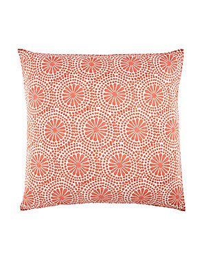 John Robshaw Bay Frond Euro Pillow - Pink