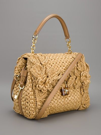Dolce Gabbana Sicily Raffia Handbag Stefania Mode Farfetch
