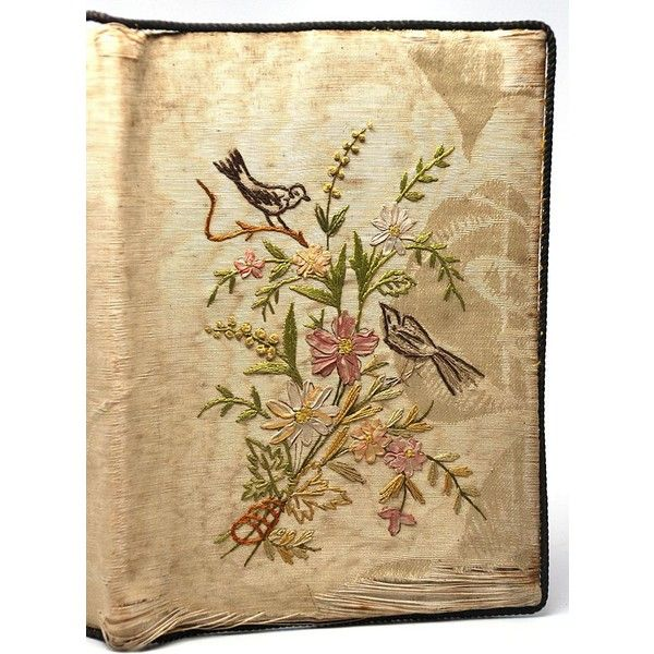 Late Nineteenth Century French Hand-Embroidered Répertoire ($155) ❤ liked on Polyvore
