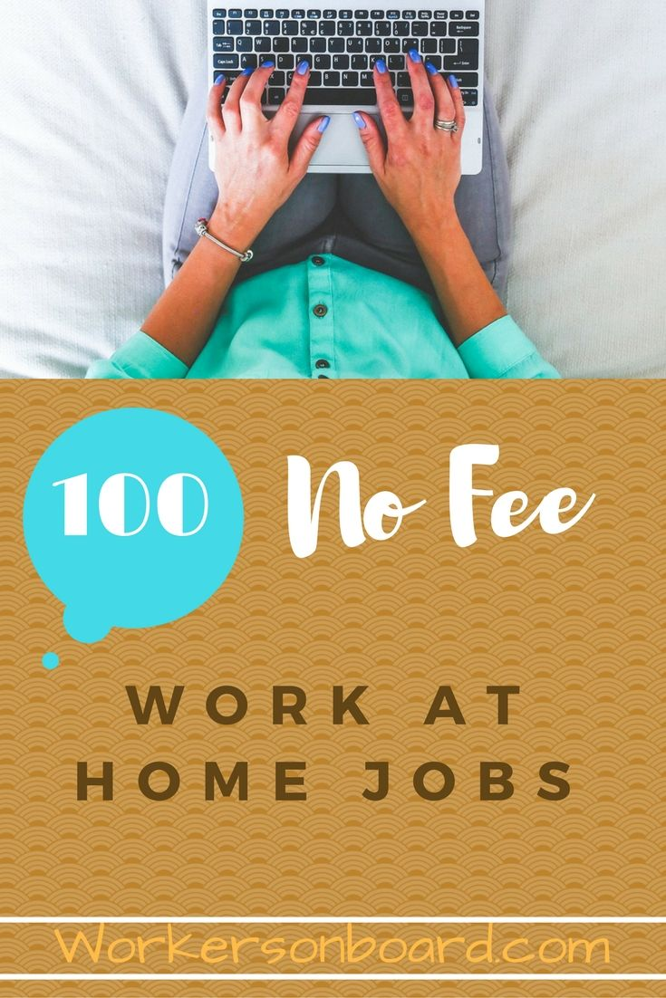 Looking for work at home jobs that do not require any fees? If so ...