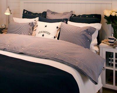 lexington bettw sche american seaside check navy bei home go lucky. Black Bedroom Furniture Sets. Home Design Ideas