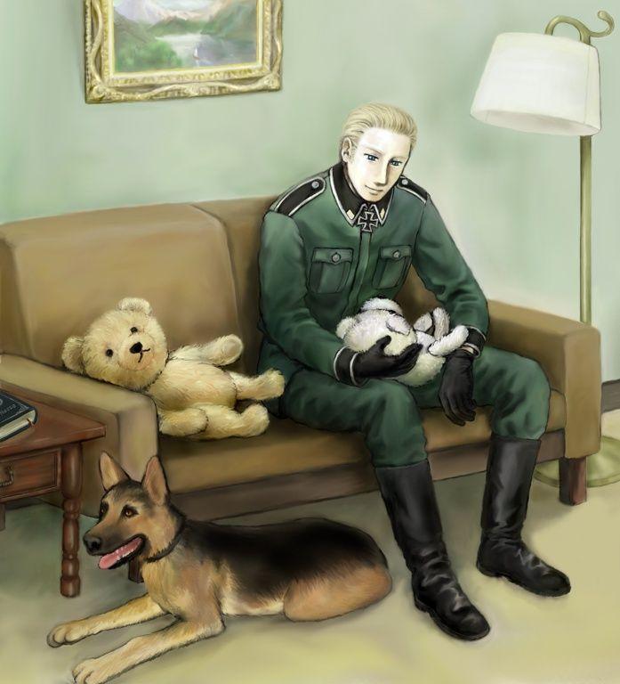 Ludwig mit seinem deutschem Schäferhund. ^-^