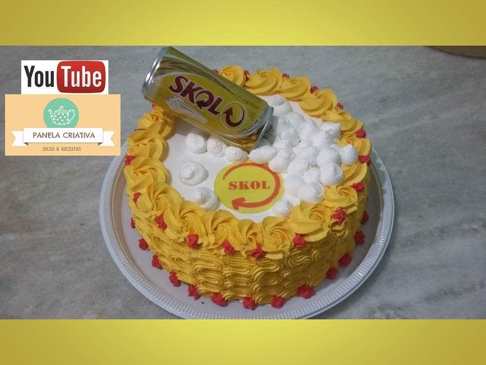 Well-known Bolo Skol com latinha/Bolo cerveja/decorando bolo simples com  QM68