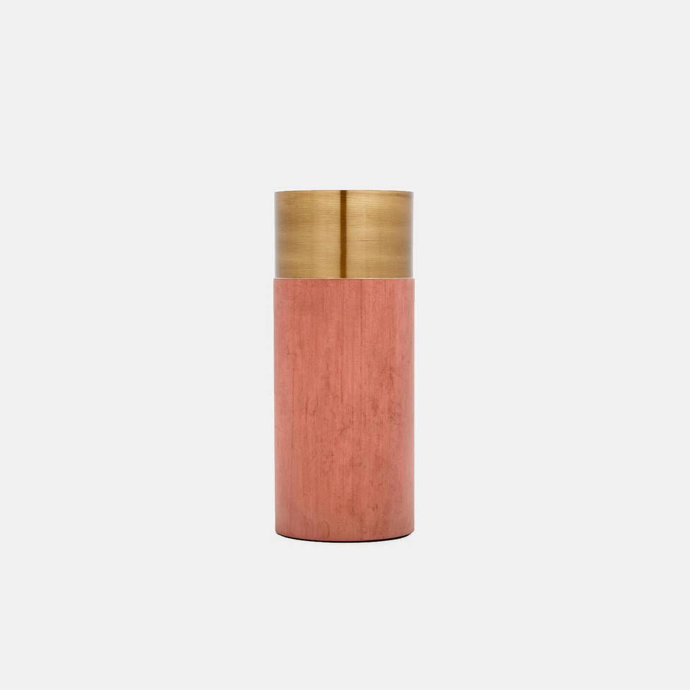 &Tradition — Terracotta Brass True Colour Vase By Lex Pott
