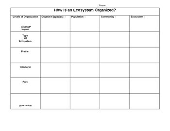 Printables Ecosystem Worksheet to the ojays and charts on pinterest