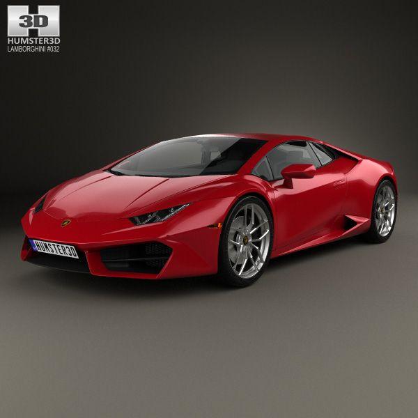 3D Model Of Lamborghini Huracan LP 580-2 2015