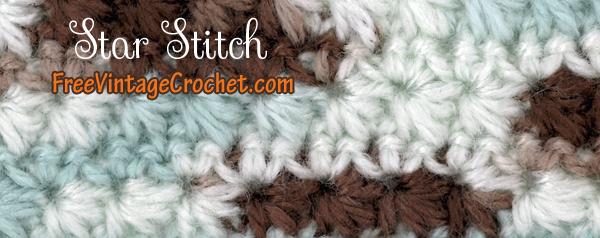 Star Stitch | Free Crochet Patterns | Handarbeitstechnik | Pinterest ...