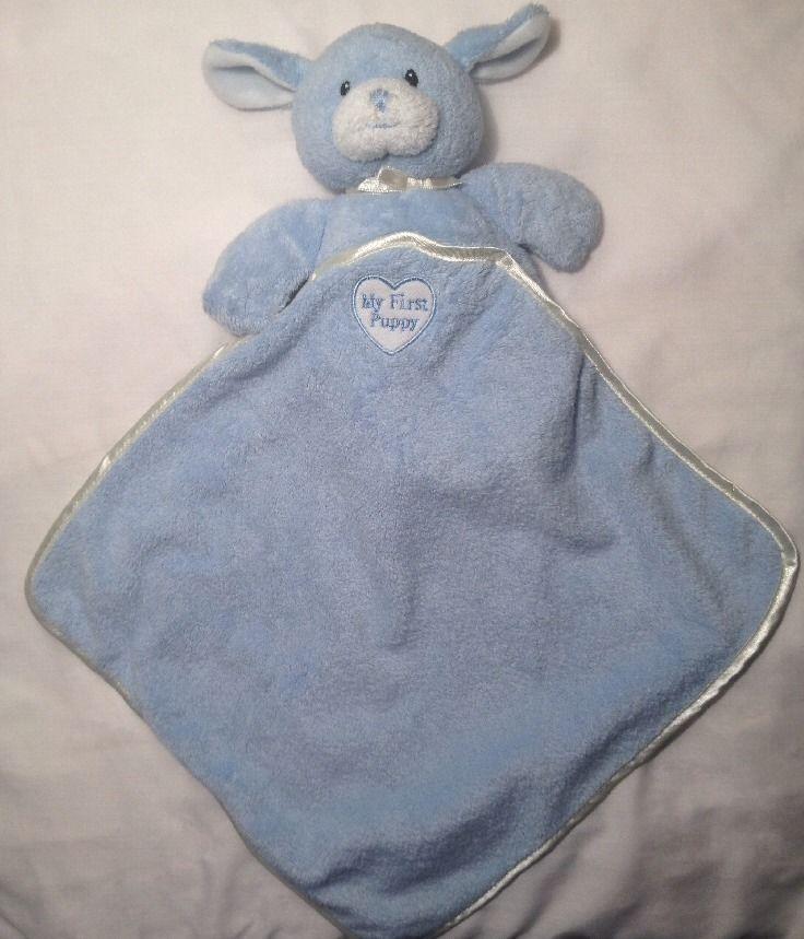 LOVEY Baby Gund Blue My First Puppy Dog 58219 Plush Security Blanket Soft Toy #GUND